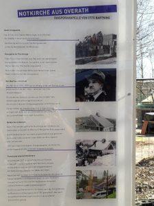 Infotafel am neuen Standort in Kommern